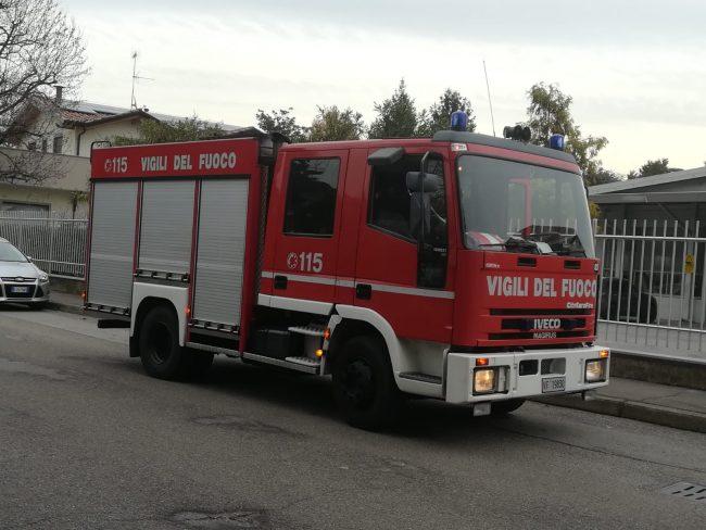 Fuga di gas a Castellanza, Vigili del Fuoco sul posto