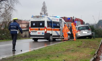 Incidente tra auto e camion a Parabiago: arriva l'elisoccorso