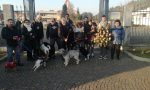 Fulvio accompagnato dai cani nel suo ultimo viaggio