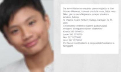 Ragazzo di 15 anni scomparso, è stato RITROVATO