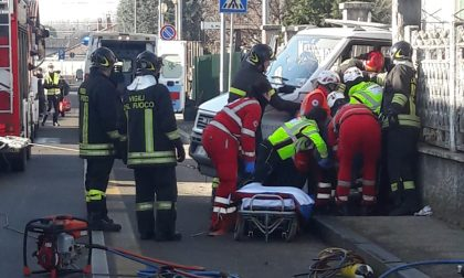 Grave infortunio in via Cottolengo a Castano Primo – LE FOTO