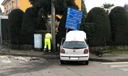 Incidente a Nerviano, coinvolta anche una bambina: sul posto Carabinieri, Vigili del Fuoco e tre ambulanze