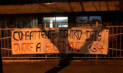 Striscione per Soleimani al liceo Galilei di Legnano