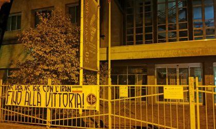Striscione di lotta studentesca al liceo Galilei di Legnano