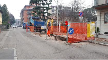 Teleriscaldamento: aperto il cantiere di via Monte Nevoso