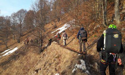 Soccorso alpino in azione per quattro escursionisti milanesi