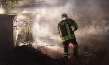 Incendio nei campi tra Arconate e Busto Garolfo - LE FOTO