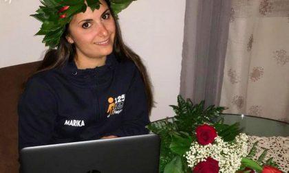 Marika, la maestra del Giacobbe si laurea online