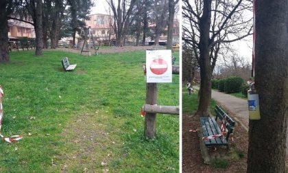 Gaggiano: violano il divieto per distruggere il parco. FOTO
