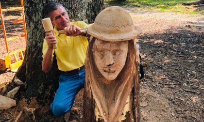 """""""Sculture di legno al posto degli alberi che saranno abbattuti"""""""
