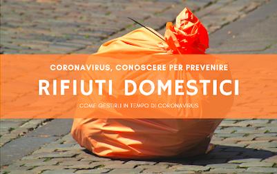 Cosa fare con i rifiuti domestici al tempo del Coronavirus