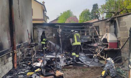 Incendio in casa a Lainate