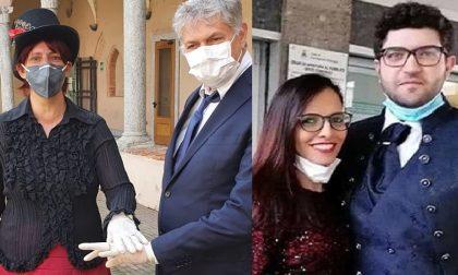 Nozze ai tempi del Coronavirus: si sposano con guanti e mascherina