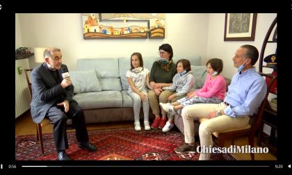 L'Arcivescovo a casa di una famiglia corbettese
