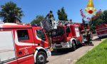 Incendio in una villetta, Vigili del fuoco sul posto – FOTO