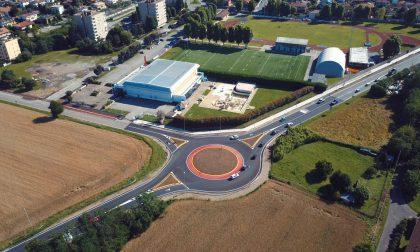 Terminata la costruzione della rotatoria tra via Amendola e viale Lombardia