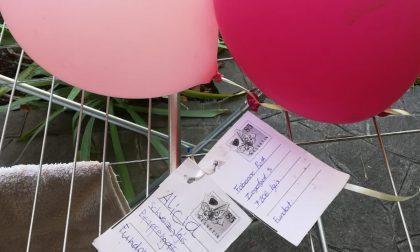 Due palloncini messaggeri dalla Svizzera a Novate