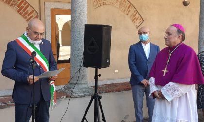 Il nuovo vescovo don Giuseppe Vegezzi accolto nella sua Nerviano FOTO