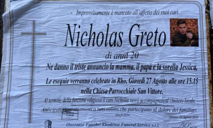 Nel pomeriggio il funerale di  Nicholas