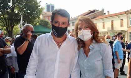 Una protesta ha accolto Salvini a Legnano
