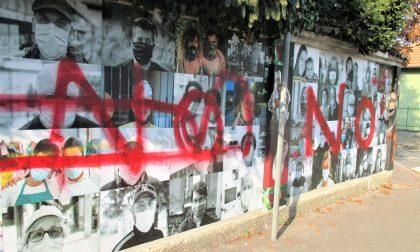 Covid, nuovamente vandalizzato il murale a Garbagnate