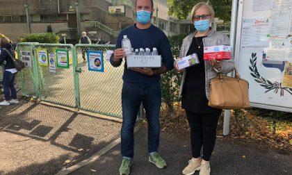 La Lega dona gel e mascherine alle scuole di Corbetta