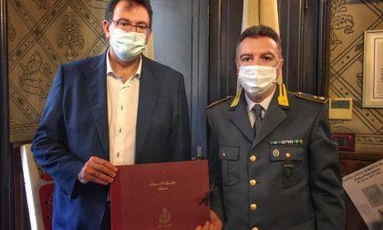 Il sindaco di Rho incontra il neo comandante del Gruppo di Legnano della Guardia di Finanza
