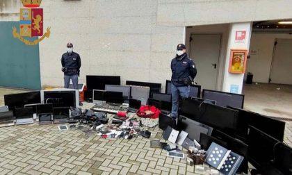 Materiale hitech trovato in un edificio occupato