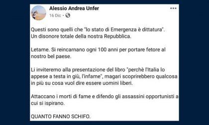 """Il nuovo responsabile della comunicazione del sindaco di Legnano su Facebook definisce """"letame"""" Meloni e Salvini"""