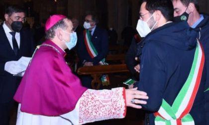 Sant'Ambrogio, anche il sindaco di Legnano dall'Arcivescovo Mario Delpini
