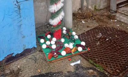 Rubato l'albero di Natale e le ghirlande dei commercianti
