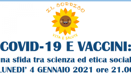 """""""Covid-19 e vaccini, una sfida tra scienza e etica sociale"""": un webinar online"""