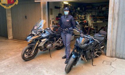 La Polizia ritrova 5 moto rubate di grossa cilindata: un arresto
