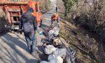 Volontari puliscono i fossi delle campagne di Gaggiano