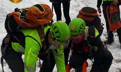 Soccorso alpino in azione per un escursionista