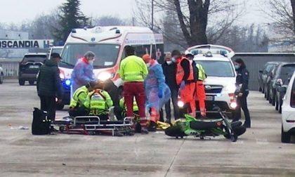 Incidente in azienda: ferito un 63enne, moto sotto sequestro