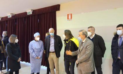 Vaccini in Fiera, la visita dell'assessore regionale Foroni