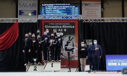 Ginnastica ritmica, Moderna Legnano promossa in A1