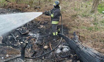 Sterpaglie in fiamme, arrivano i Vigili del Fuoco