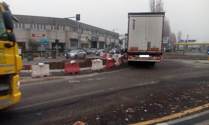 Lavori della rotonda all'incrocio tra via San Martino e via dei Fontanili: gli aggiornamenti