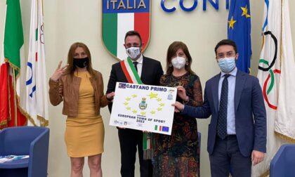 A Roma per candidare ufficialmente Castano a Comune Europeo dello Sport