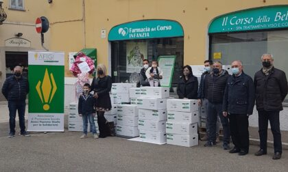 Afigi dal cuore grande: donati cento pacchi alimentari