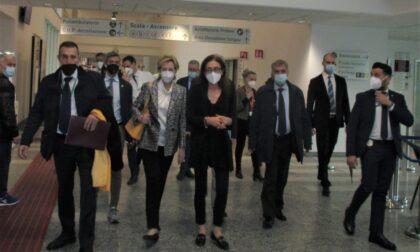 L'assessore Moratti in visita all'ospedale di Garbagnate