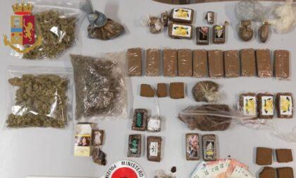 61enne arrestato: tre chili e mezzo di droga in casa