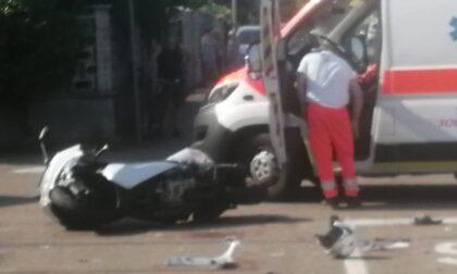 Incidente tra auto e moto: grave il centauro
