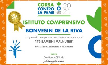 Corsa contro la fame: gli studenti delle Bonvesin hanno contribuito a salvare 479 bambini malnutriti