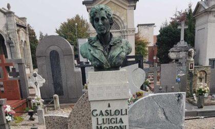 Altro furto al cimitero di Cuggiono: rubato un busto in bronzo