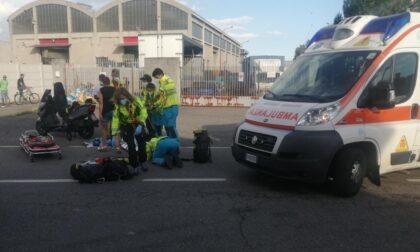 Incidente in scooter: elisoccorso sul posto
