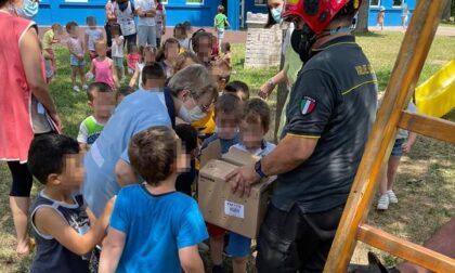 Gazza ladra salvata da alunni e pompieri