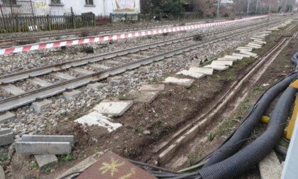 Lavori sulla linea ferroviaria a Vanzago